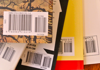 barcodes showing prices on book back covers