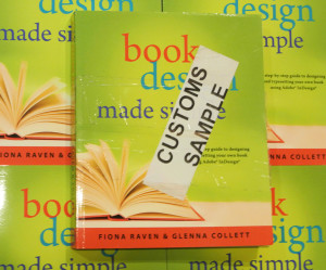 Customs label for Book Design Made Simple.