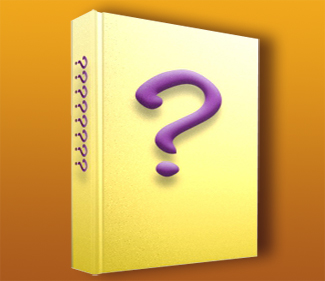 book cover wtih question mark