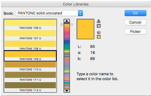 Choosing a Pantone color for 2-color printing in Photoshop