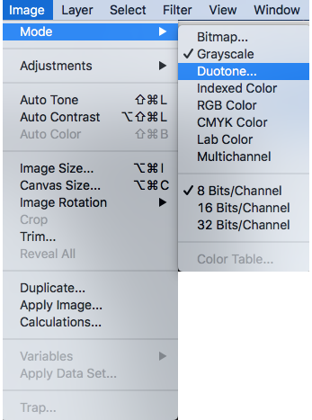 Creating a duotone in Photoshop for 2-color printing