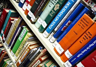 Book marketing to libraries - library books on shelves