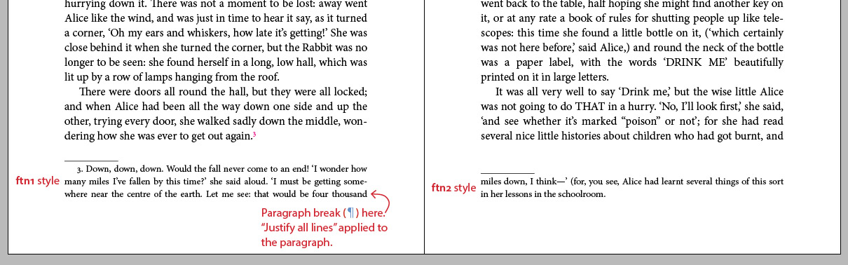 Indesign Footnotes An Alternate Typesetting Method