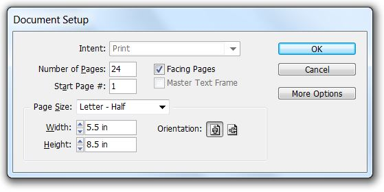 Document Setup dialog box