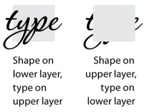 Word type in front of and behind InDesign layers
