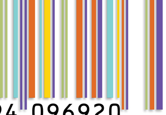 A colorful book barcode
