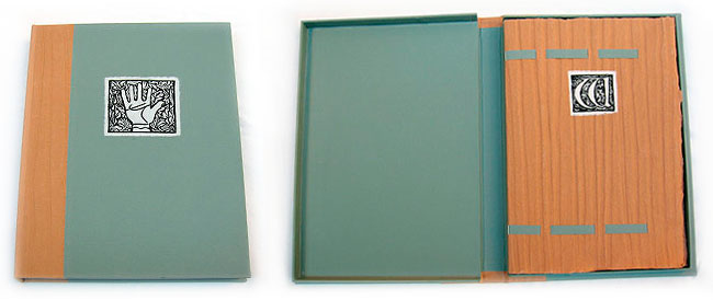 Book arts - showing a clamshell case