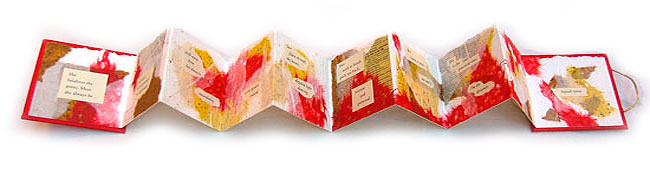 The Pact: book arts accordion style