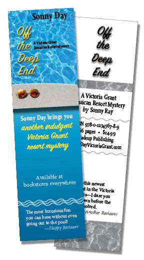 Bookmarks are an example of book promotional materials.