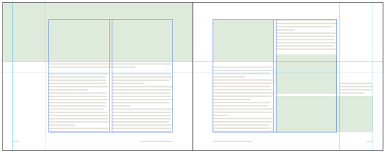 Use a layout grid in InDesign to create a dynamic book design
