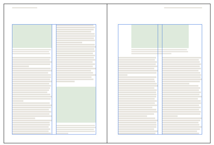 Layout grid used for Res magazine