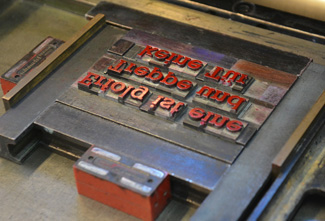Layout grid in metal movable type