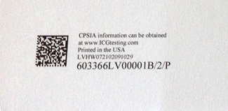 example of a QR code on the last page of a POD book