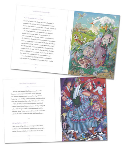 Design a children's picture book using full-page illustrations.