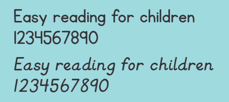 Design a workbook for children using this font.