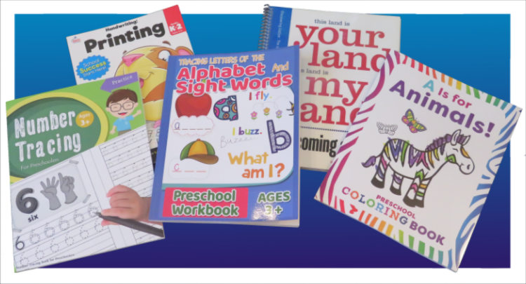 Workbook front cover designs.