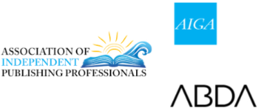 book designer publishing association logos