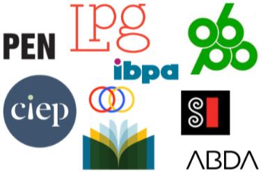 Publishing association logos.